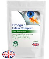 EyeHealth Lutein & Omega 3 - 30/60/90/120/180 Capsules - EPA, DHA, Zeaxanthin UK
