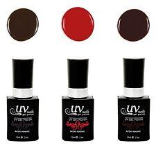 UV-Nails Lot of 3 UV LED Gel Polish Bottles- G3, G4, G5 Salon Quality 15mL