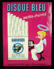 Jean Colin Gauloise filtre disque bleu cigarette 1957 publicité originale 33 cm