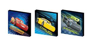 CARS disney CANVAS ART BLOCKS/ WALL ART PLAQUES/PICTURES