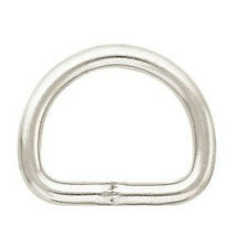 """10 pack - 3/4"""" Weaver Leather Metal Dee Ring D-ring chrome plated"""