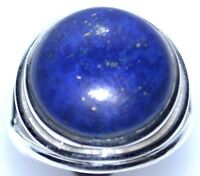 New 925 Sterling SILVER Ring Lapis Lazuli Rings Size L,M,N,O,P,Q,R,S,T,U,V,W,X,Y