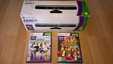 Microsoft Xbox 360 Kinect boxed with games - tested and working - complete