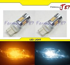 LED Switchback Light S White Amber Orange 7443 Two Bulbs Front Turn Signal DRL