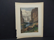 Picturesque America, c.1880 Hand Color Marble Canon #01