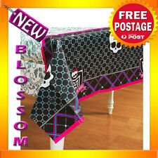 PD28 Monster High Birthday Party Supplies Table Cloth Cover 137cm  x 244 cm