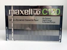 MAXELL UD C120 BLANK AUDIO CASSETTE TAPE NEW RARE 1975 YEAR JAPAN MADE