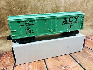 Custom Painted American Flyer ACY Reefer #3404 WITH DIECAST TRUCKS & KNUCKLE CO