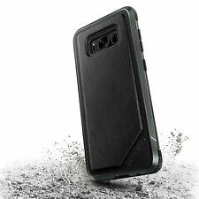 x-doria Defense Leder Case Schwarz für Samsung Galaxy S8+ S8 Plus Schutzhülle