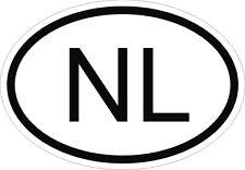 NL Autocollant OVAL PAYS-BAS HOLLANDE Sticker Voiture Moto Caravane Pare-choc