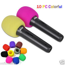 10pcs Colorful Handheld Stage Microphone Windscreen Foam Mic Cover Karaoke DJ