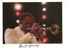 BURT YOUNG AUTOGRAPHED SIGNED PHOTO PLAYING TRUMPET (8X10) 11324