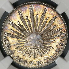 1847-Mo NGC MS 63 Mexico 2 Reales Silver Coin POP 3/3 (18082506C)