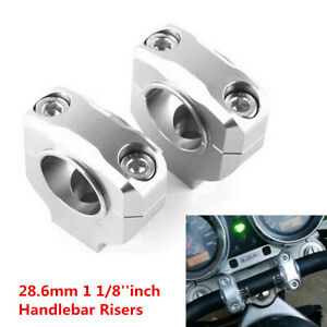 "Pair 28.6mm (1 1/8"") Motorcycle Scooter CNC Handlebar Mount Clamp Riser Bracket"