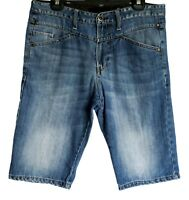"Mossimo Denim Shorts ~ Mens S (34"") ~ Diagonal Fit, Aprilia Jeans Shorts"