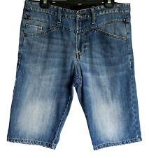 "Mossimo Denim Shorts ~ Mens S (34"") ~ Diagonal Fit, Aprilia Jeans Shorts"