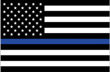 American Flag (Support Law Enforcement) Sticker/Decal