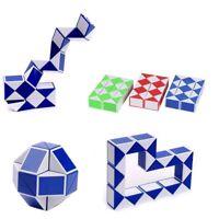 Magic Ruler Cube Twist Folding Snake Puzzle Kid Educational Toy 24 Blocks U0