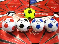 2018 Callaway Chrome Soft Truvis 1 doz Golf Balls - WHITE/RED/BLUE/BLACK/YELLOW