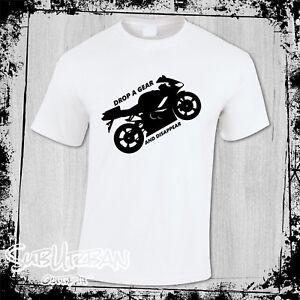 Motorcycle Men's T-Shirt, Biker Slogan Shirt - Drop A Gear - TT Race, Motorbike