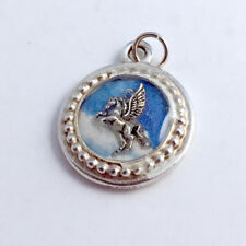 silver pegasus pendant-resin, mythology,horse Pewter frame, sky print, sterling