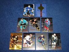 1995-96 SELECT CERTIFIED HOCKEY COMPLETE PROMO SET OF 9 CARDS (INS7)