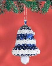 Sunrise Christmas FROSTY BELLS Set of 4 Beaded Sequin Ornaments Kit ~ NEW