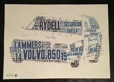 BTCC Volvo 850 Estate Super Touring ERA Couleur Word Art ~ Affiche A4