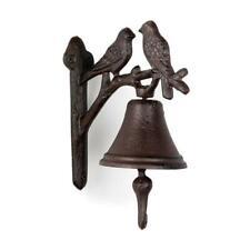 Avon Cast Iron Bird Bell - Decorative Wall Mount Rustic Cast Iron Bird Bell