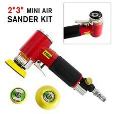 "2"" 3"" Mini Air Sander Kit Pneumatic Orbital Polishing Machine for Auto Body Car"