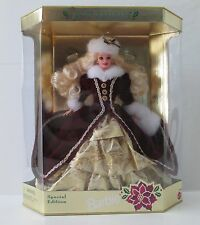 Mattel 1996 Happy Holiday Special Edition Barbie Blonde NRFB