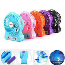 Great Portable Rechargeable LED Light Fan Air Cooler Mini Desk USB Fan