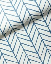 New double roll - SERENA & LILY Feather Wallpaper - Denim Navy blue - Chevron