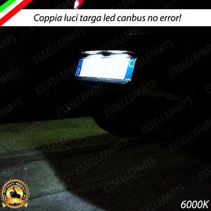 COPPIA LUCI TARGA 6 LED FORD FIESTA MK5 CANBUS 100% NO ERROR BIANCO 6000K