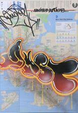 DUSTER UA  - GRAFFITI sur plan de métro NYC  MTA/quik/seen/futura/taki 183/cope2