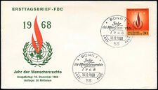 West Germany 1968 Human Rights Year FDC First Day Cover #C29200