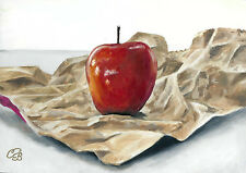 Red Delicious - Original Oil painting, hand-painted, handmade, framed