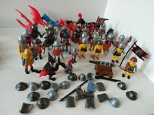 Playmobil Fantasy And Knights Lot 30+ Figures with Weapons and Accessories