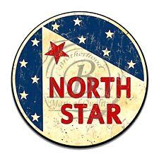 North Star Gasoline Oil Company Reproduction Round Aluminum Sign