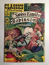 Classics Illustrated #42 Swiss Family Robinson (HRN 117) FN condition