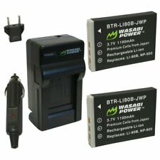 Wasabi Power Battery (2-Pack) and Charger for Olympus LI-80B