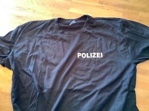 Polizei T-Shirt reflektierender beidseitiger Druck XXL