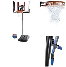 "Basketball Hoop Portable Adjustable Outdoor 48"" System Height Ball Included New"