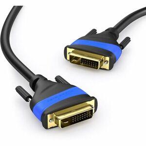KabelDirekt Dual Link DVI Monitor Cable 3m (DVI-D 24+1, 1080p Full HD 3D)