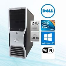 Dell Precision T5500 Workstation Xeon 2.66Ghz 12GB 128 GB SSD + 2TB  Win10