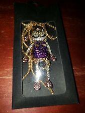 Purple Sock Monkey Sweater Chain Necklace