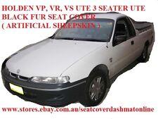 BLACK FUR SEAT COVER  ( SHEEPSKIN LOOK ) FIT HOLDEN VP, VR, VS UTE 3 SEATER