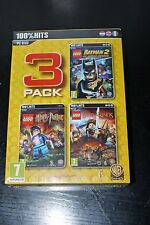LEGO 3 Pack Video Games Movie Videogame, BATMAN 2 HARRY POTTER & LOTR PC DVD MIB