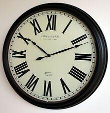 Wanduhr wall clock часы Bahnhofsuhr Glas Ø50cm Sterling & Noble