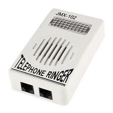 Plastica Telefono anello di amplificazione del suono RJ11 6P2C Ringer grigio X6B